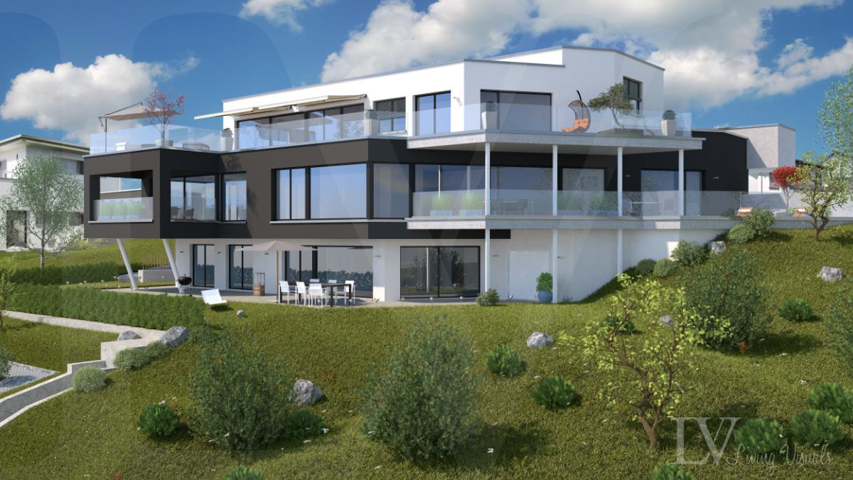 Mehrfamilienhaus in Schindellegi - Living Visuals